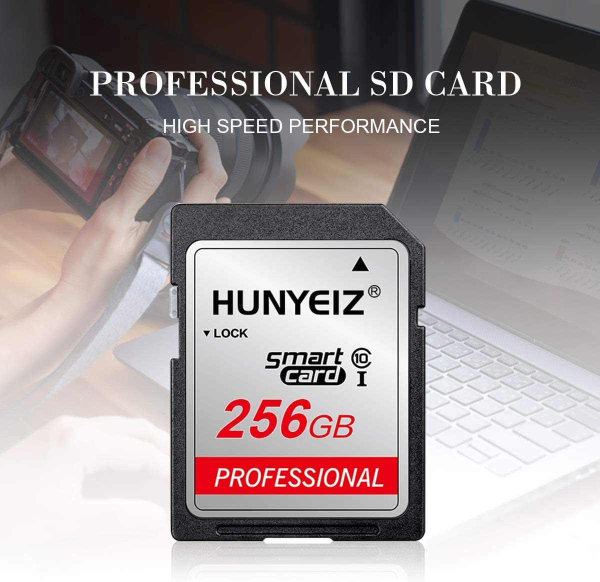 256GB SD Card Memory Card Fast Speed Security Digital Flash Memory Card Class 10 for Camera,Videographers&Vloggers and Other SD Card Compatible Devices