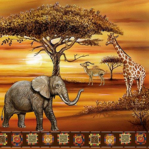 Tovagliolo 3–lagig, Africa Savana, 33x 33cm, 20pezzi colorato 1/2
