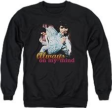 Elvis Presley Always On My Mind Unisex Adult Crewneck Sweatshirt for Men and Women