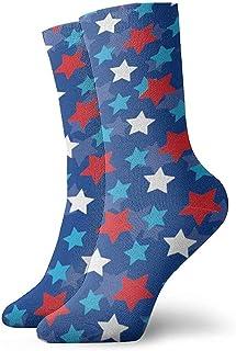Dydan Tne, Calcetines de diseño patriótico inspirados en Estrellas de la Bandera Americana Calcetines Divertidos Calcetines Locos Calcetines Casuales para niñas Niños