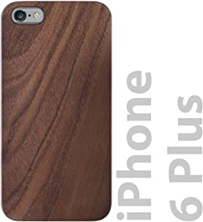 iATO iPhone 6 Plus Wooden Case - Real Walnut Wood Grain Premium Protective Shockproof Slim Back Cover - Unique, Stylish & Classy Snap on Thin Bumper Accessory Designed for iPhone 6+