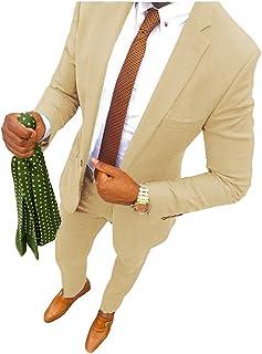 YSMO Men's Suits Slim Fit Formal Business Suit Best Man Male Coat 2 Piece Blazer