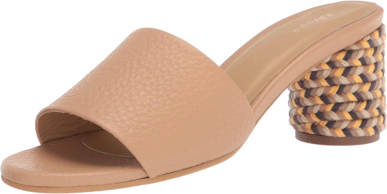 KAANAS Women's Tobago Multi-Color Braid Wrapped Block Heeled Sandal