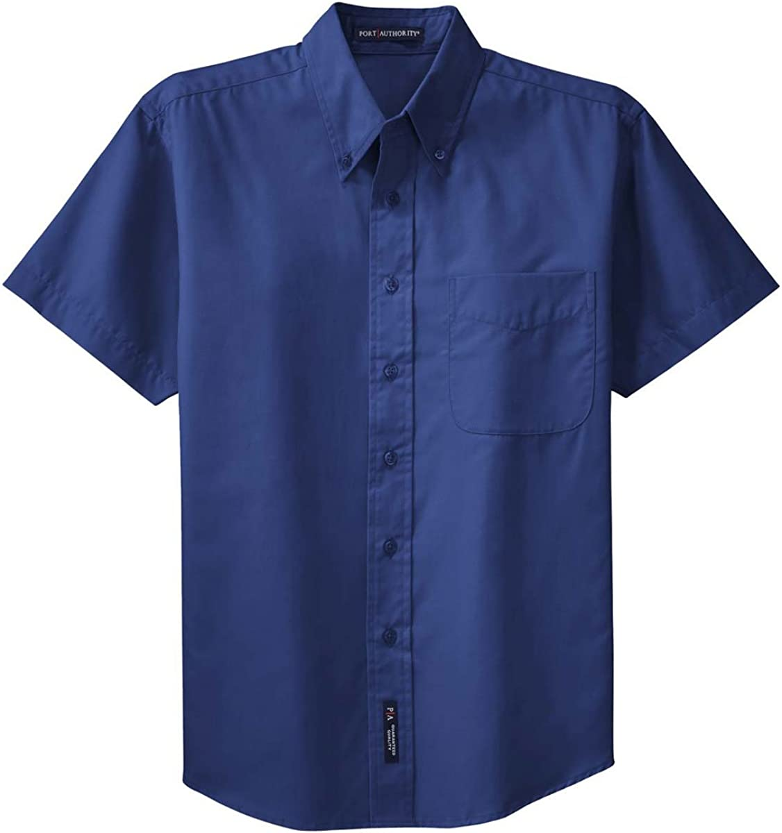Port Authority Men's Big Short-Sleeve Easy Care Dress Shirt - Mediterranean Blue S508 XXL