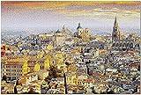 GZFENG Toledo España - Vista de Toledo al Amanecer - Fotografía A-94607 (Rompecabezas para Adultos) 1000 Piezas