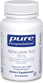 Pure Encapsulations Alpha Lipoic Acid 100 mg | ALA Supplement for Liver Support, Antioxidants, Nerve and Cardiovascular He...