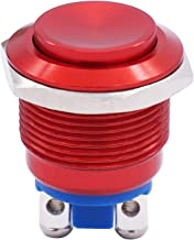 Twidec / 19mm Waterproof Red Metal Shell Momentary Raised Top Push Button Switch 3A/12~250V SPST 1NO Start Button for car Modification Switch(Quality Assurance for 1 Years) M-19-R-G