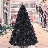 MTree 7ft 210cm Artificiale Natale Albero Completo, Vacanza Decorazioni per Natale Home Partito Decortazione in Miniatura Albero-Nero 210cm/7ft
