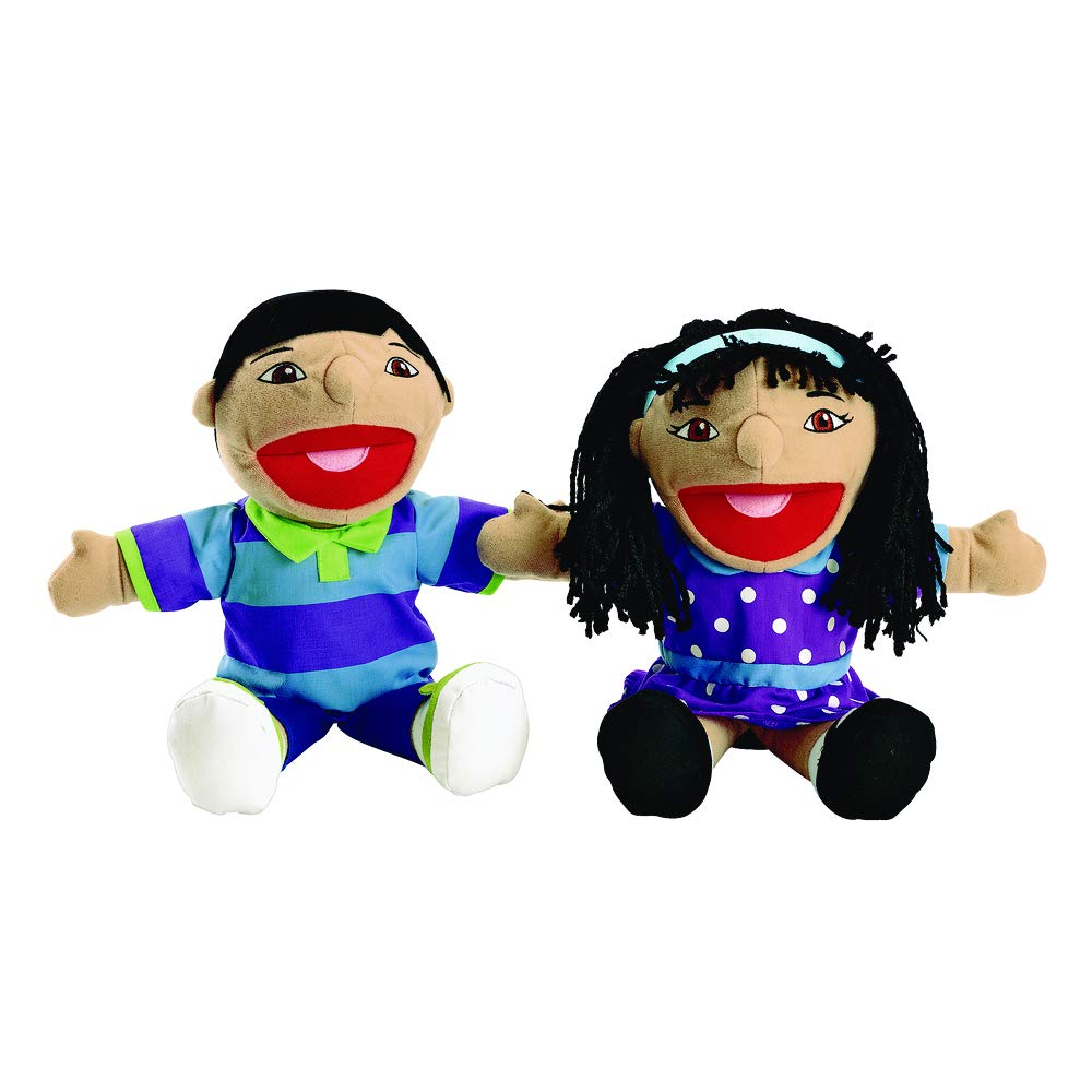 Excellerations Asian Girl /& Boy Puppet Pair Item # KIDPUPAS