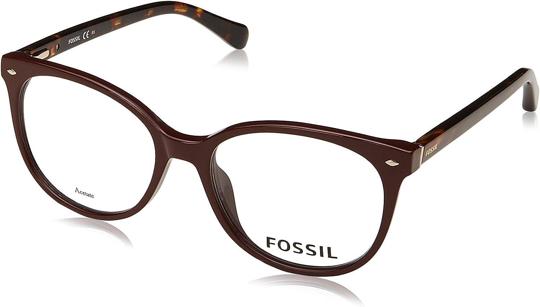 Selling Eyeglasses Fossil 7039 0LHF Opal Lens Demo 00 Detroit Mall Burgundy