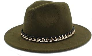 6ce161d10da DOSOMI Women Men Wool Fedora Hat for Winter Autumn Wide Brim Jazz Sombrero Caps  Size 56