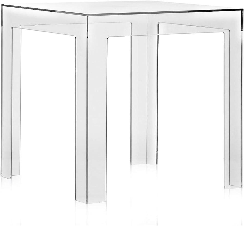 Kartell Jolly Tavolino, 40 x 40 x 40 cm Colore Trasparente 8850/B4
