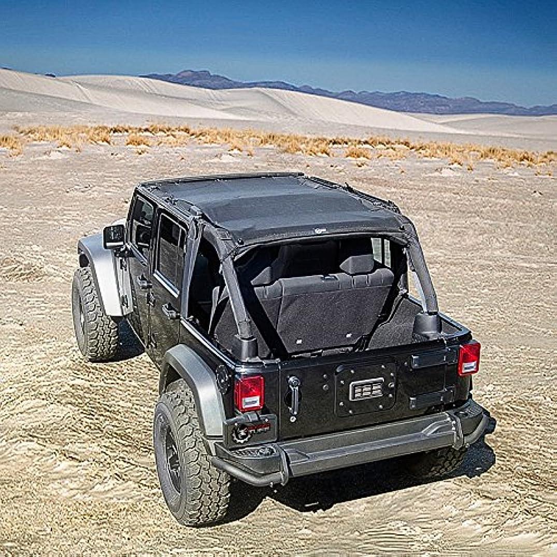 Rugged TUFF TUFFSHADE Jeep Wrangler JK Full Mesh Sun Shade Cover Safari Bikini Top 2007-2017 4-Door Models Features Stowaway Pockets UV Protection 5-Year Warranty for JK4D