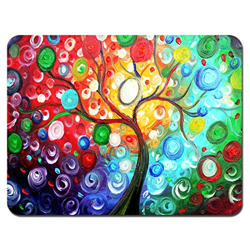 Meffort Inc Standard 9.5 x 7.9 Inch Gaming Mouse Pad - Colorful Tree