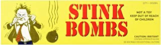 Rhode Island Novelty Stink Bombs 3 Glass Vials Per Box 12 Boxes Per Order