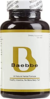 Baebbe 180 Tabs (Healthy Intestine, No More Belly Fat!) 100% Natural Herbs