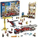 LEGO 60216 City Brigada de Bomberos del Distrito Centro incluye Camión, Grúa, Edificio, Moto y...