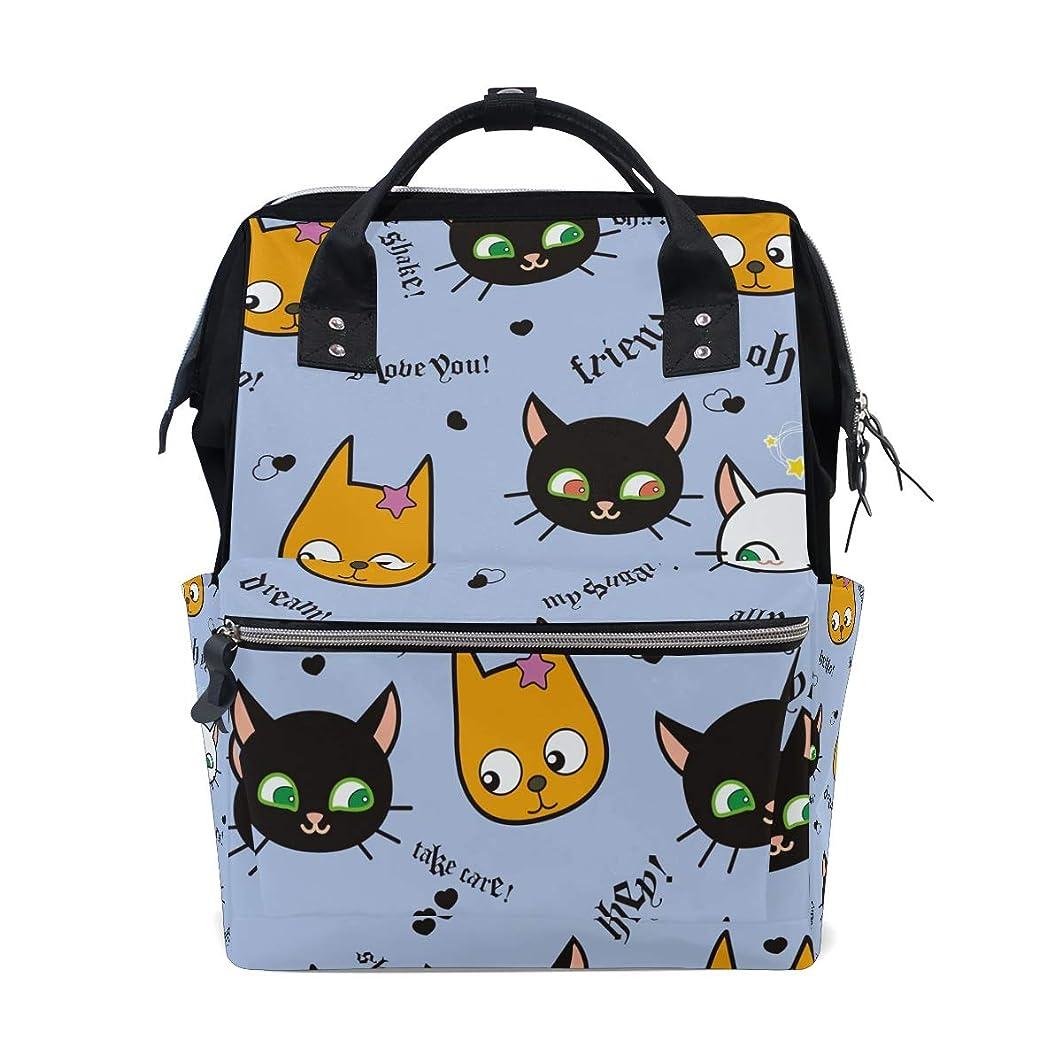 Cute Cartoon Cat Face School Backpack Large Capacity Mummy Bags Laptop Handbag Casual Travel Rucksack Satchel For Women Men Adult Teen Children
