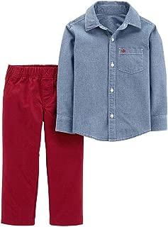 Carter's Toddler Boy Chambray Shirt & Pants Set, 3T
