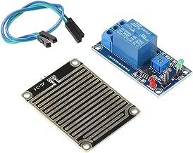 DC 12V Leaf wetness Lluvia Sensor Module, Relé regulador de humedad detector meteorológica, automática de riego Módulo