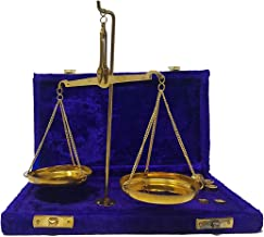 Old Traditional Goldsmith Weight (tarazu) showpiece Brass Weighing Scale Balance Justice Law Scale Decoration Vintage Apot...