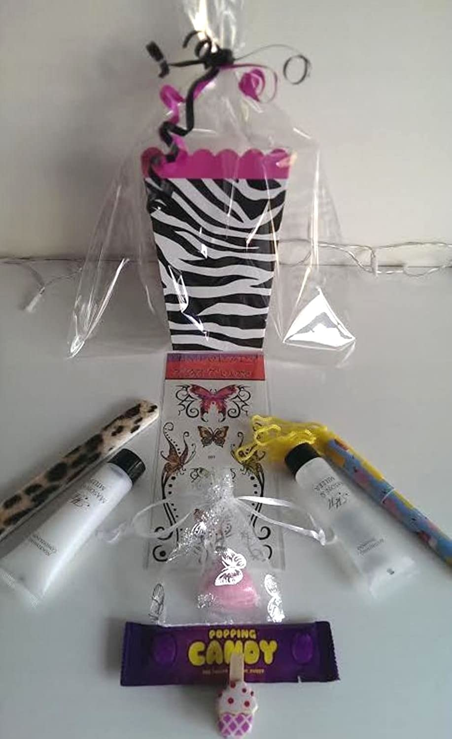 Twenty x Girls Luxury Pre Filled Zebra Print Party Bags Filled With Excellent Quality Items  Birthday Party, Pamper, Hen Party, Teens or Sleepovers