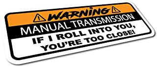 The Sticker Boss Brand, Warning Manual Transmission Bumper Sticker Decal Stick Shift Car JDM Funny 6