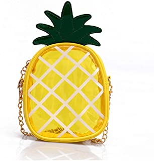 Bageek Pineapple Shoulder Bag Satchel Bag Creative Cute Fruit Mini Bag for Women Girls