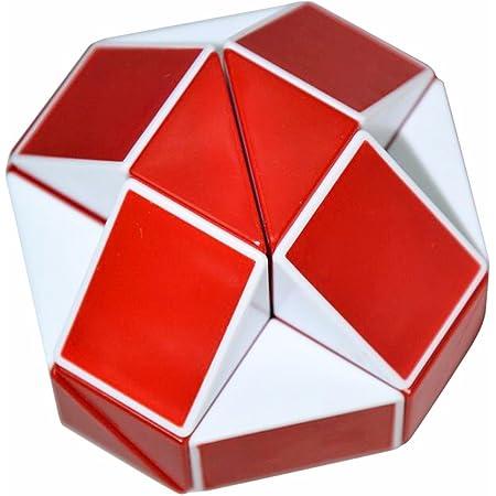 Coolzon® Serpente Magico Righello Snake Puzzle Cubo Speciale Speed Magic Cube di 24 Parti,Bianco (Rosso)