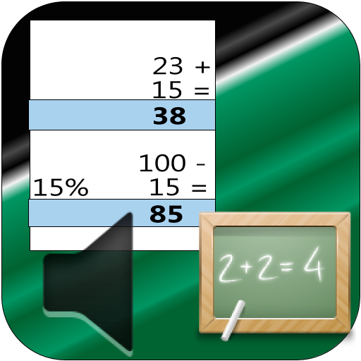 Une calculatrice bureau/enfant avec ruban et voix