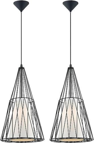 Ensemble de 2 lampes suspendues au plafond à LED éclairage de chambre à coucher résidencravatelle, éclairage de lampes à filaHommest rétro