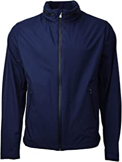 Brooks Brothers Men's Nylon Hooded Rain Coat Jacket Dark Blue