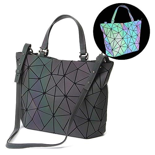 47dcbefde5a1c HotOne Geometric Luminous Purses and Handbags Shard Lattice Eco-Friendly  Artificial Leather Rainbow Holographic Purse