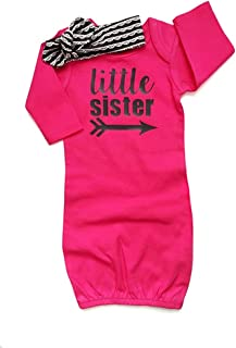 Mashed Clothing Hello Personalized Name Baby Cotton Sleeper Gown My Name is Rose