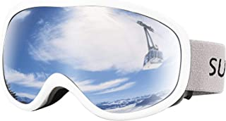 Supertrip Snow Ski Goggles Anti-Fog 100% UV Protection Snowboard Goggles Double Lens Over The Glasses Skiing for Men Women Youth
