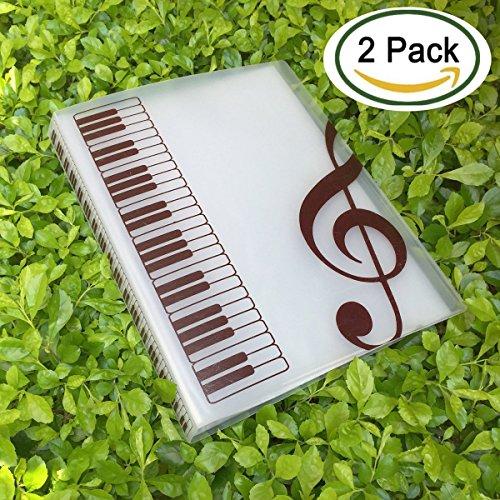 Mappe/Ordner für Musiknoten Clear -2Pack
