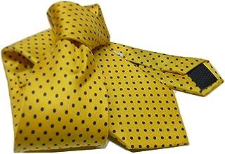 CDBGPZLD Cravatta In Seta Dorata Di Design Cravatte Grandi Gialle Per Uomo Cravatta Intrecciata A Mano Jacquard Di Alta Qualit/à 160 Cm