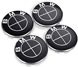 Peake Moear Set of 4 Pieces 68mm Center Wheel Hub Caps for BMW - Applicable to BMW All Models Wheel Center Caps Emblem (Black)