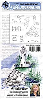 Art Impressions Bible Journaling Watercolor Rubber Stamps-My Fortress