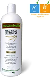 Brazilian Keratin Blowout Hair Treatment by Moroccan Keratin GOLD SERIES Proven and fast Formula 1000ml Made in USA