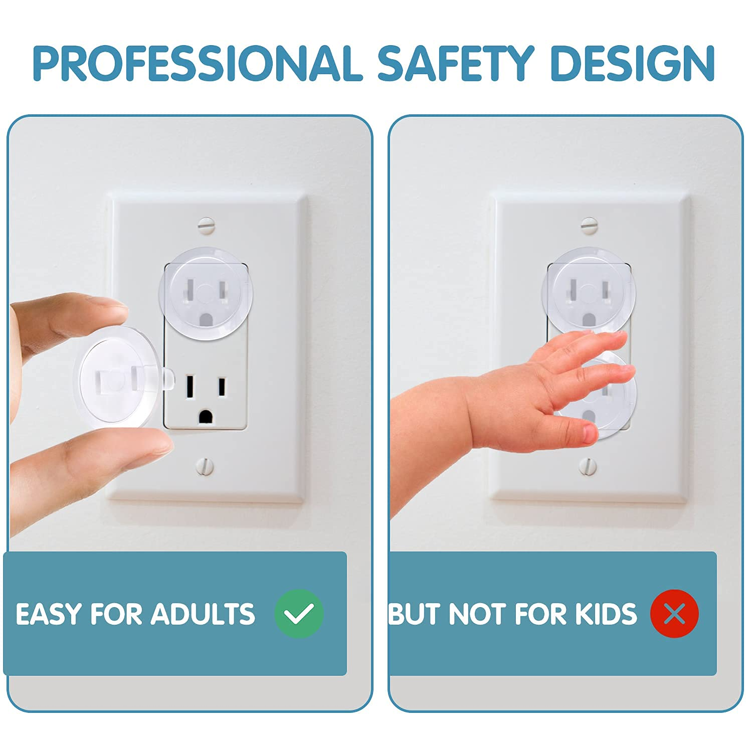 Outlet Covers Baby Proofing (36 Pack) Plug Covers for Electrical Outlets Baby Safety Outlet Plug Covers Environmental Durable Reliable Baby Safety Products