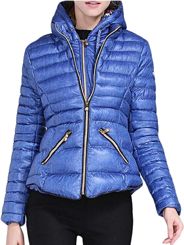 Jxfd Women's Lightweight Hooded Packable Padded Puffer Jacket Down Coat