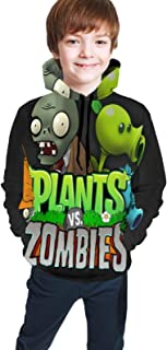 Plants Vs. Zom-bies Funny and Good-Looking Teen Hooded Sweate Jacket Black Comfortable Classic Boy and Girl Unisex-Baby