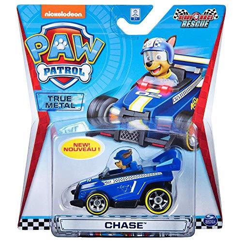 PAW PATROL Mini Véhicules True Metal 1:55 | Série Classique Pat' Patrouille, Figure:Race Rescue Chase