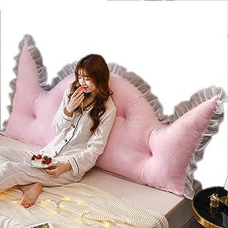 Almohadas de lectura Almohada de cuña tapizada con Refuerzo Grande, cabecera Triangular rellena, Respaldo Combinado, Soporte de posicionamiento (Color : Pink a, Size : 120cm)