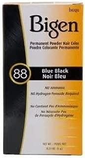Bigen Permanent Powder Hair Color 88 Blue Black 1 ea (Pack of 3)