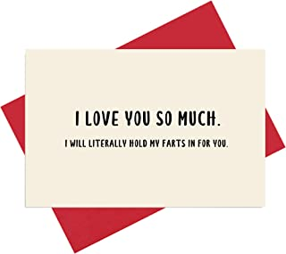Hold My Farts in for You Love You Card, Anniversary Card, Sweet Birthday Card, Valentine`s Day Card