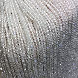 JSJJAUJ Colgantes Piedra Natural Azul Luna Piedra Redonda Cristal Aislamiento sin Aislamiento Bricolaje Accesorios de Pulsera Collars (Item Diameter : 2-2.5mm)