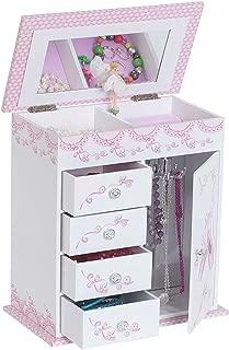 Mele & Co. Cristiana Girl's Musical Ballerina Jewelry Box (Ballet Slipper and Ribbon Design)