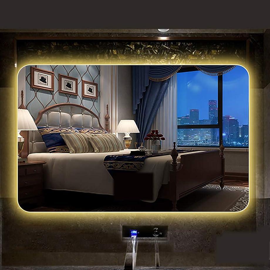 壁ヒープフィットネスモダンデザインイルミネーションウォールマウントLEDライト付きバスルームミラータッチセンサーブルートゥーススピーカー+時間/温度表示+加熱パッド